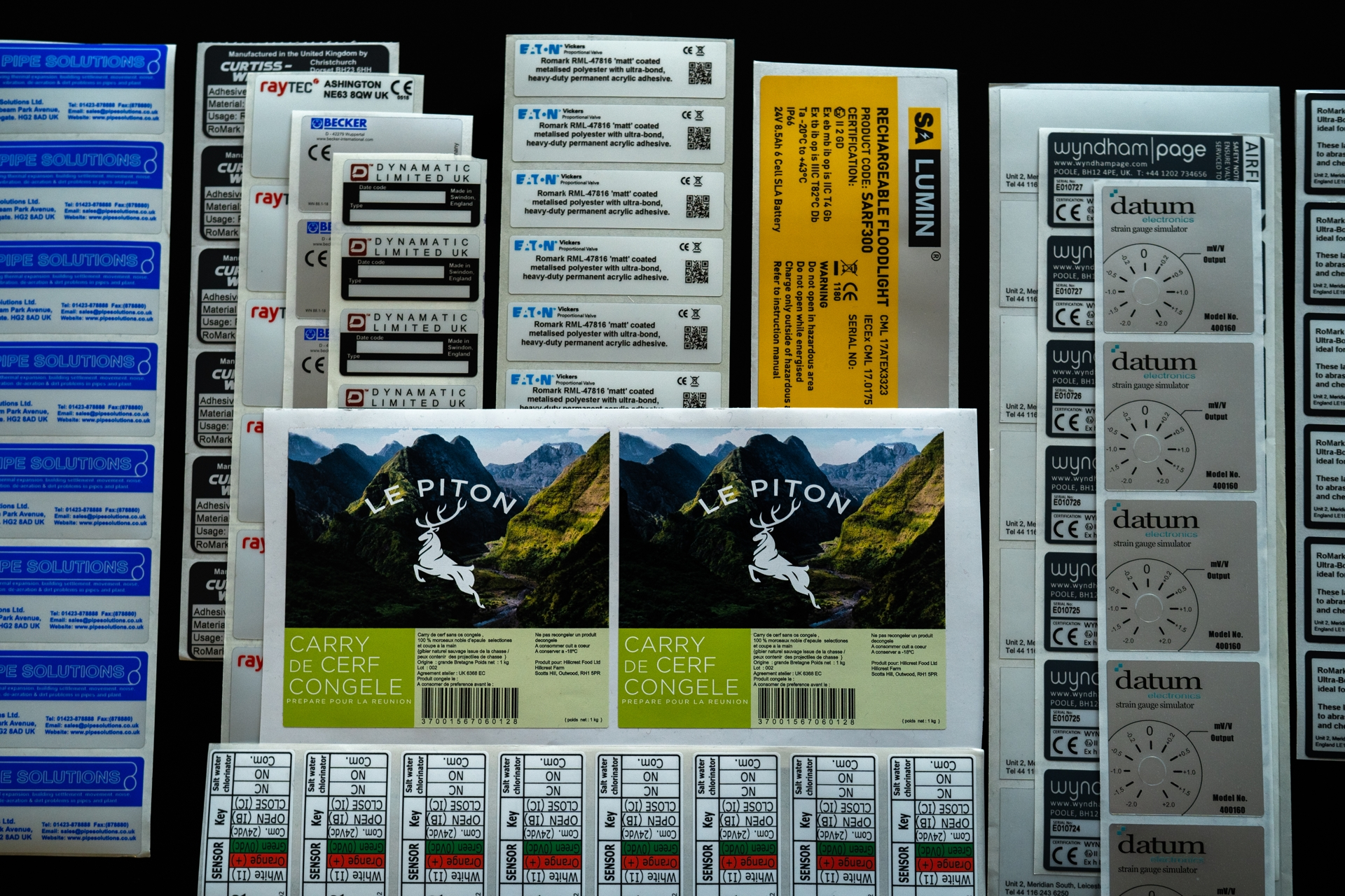 Romark's Industrial Labels to Manufacturing Requirements industrial labels