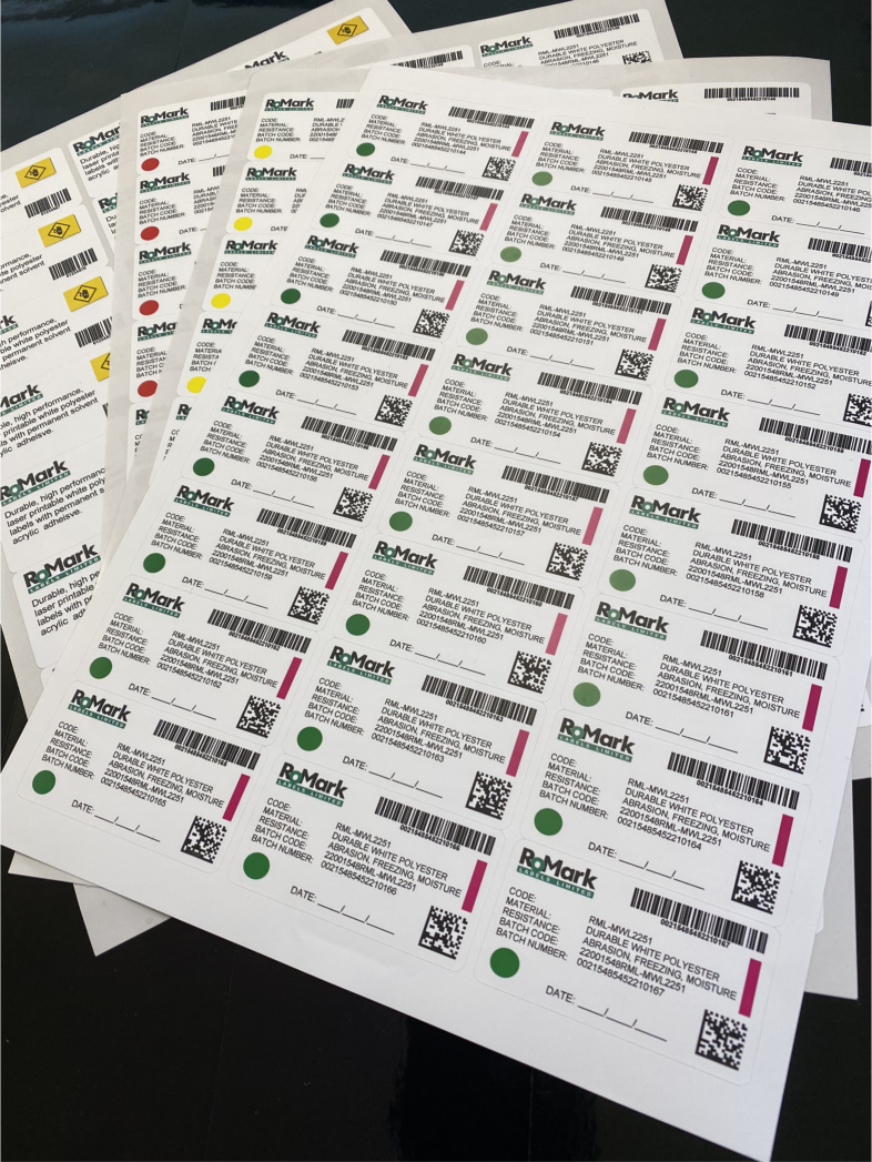 Durable Laser Printable Labels