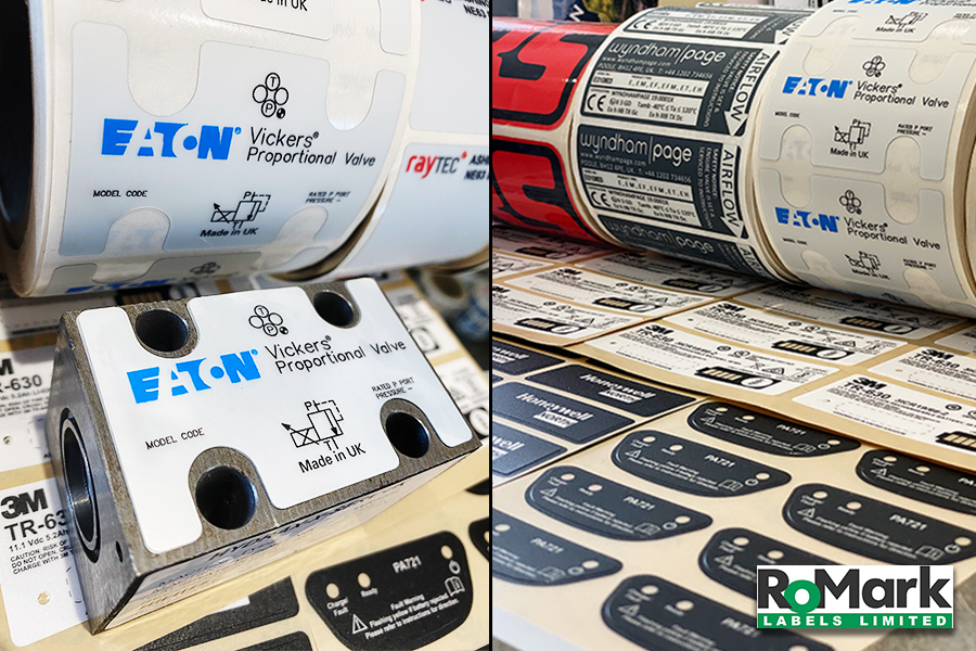 Durable synthetic labels - Eaton Valve